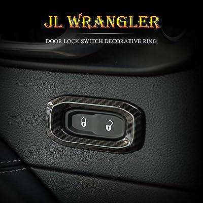 RT-TCZ Car Door Lock Switch Lid Button Decoration Trim ABS Cover for Jeep 2020-2020 JL Carbon Fiber: Industrial & Scientific