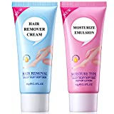 Depilatory Cream Effects On Hair - Hair Remover Cream for Legs, Bikini and Underarms (Women & Men)