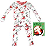 Books To Bed Little Girls' Books To Bed Twas The Night Before Christmas - White (Girl) - White - 2T