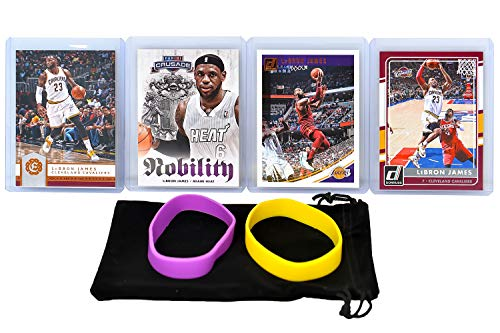 2004 Topps Nba Basketball - Lebron James (4) Assorted Basketball Cards Bundle - Cleveland Cavaliers Trading Cards - MVP # 23
