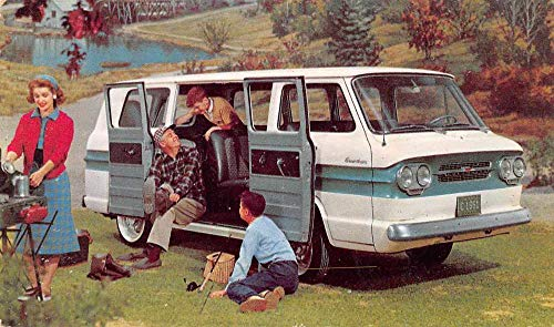 Chevrolet 1961 Greenbrier Sports Wagon Auto Advertising Postcard JA4741719