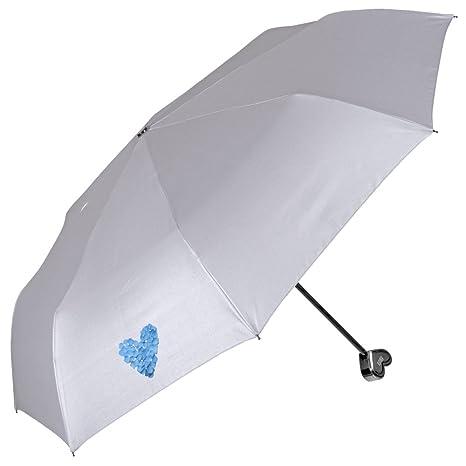 Paraguas de Mujer de Viaje con Mango de corazón - Mini Perletti – Paraguas Compacto y