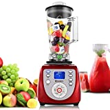 2000W 2L High-powered Professional Fruit Food Blender with Mixer Jug for Smoothie, Speed Juicer, Ice Cream Maker, Red