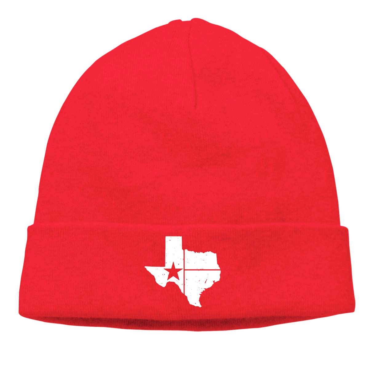 BBlooobow Unisex Distressed White Texas State Flag Soft Knit Beanie Caps