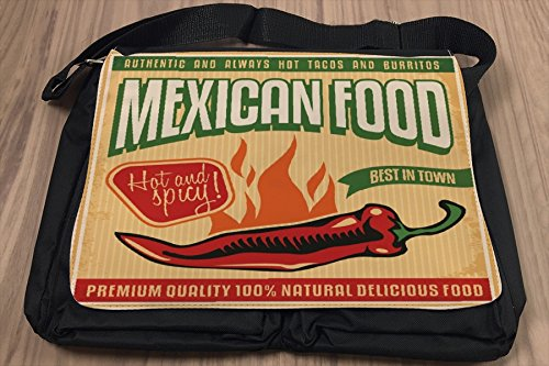 Borsa Tracolla Alimentare Ristorante Cibo messicano Stampato