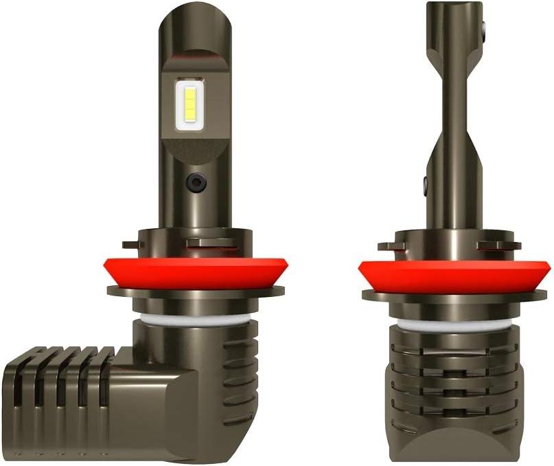 OPNIGHDYMD Lámparas LED de coches Faro P10 H8 / H9 / H11 bombilla DC9-36V / 17W bombilla más cómodo bulbo 2000LM 6000K Turbo Kit Faro (2 PCS) (Color : Cool White-One Size)