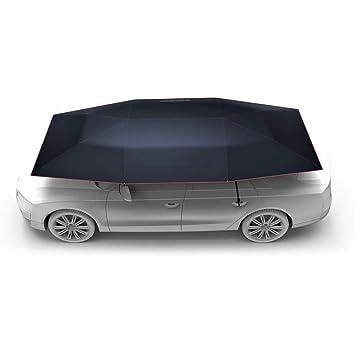 Carport Auto Car Carpa Sun Shade Canopy Cover Foldaway Portátil Car Paraguas con Mando A Distancia