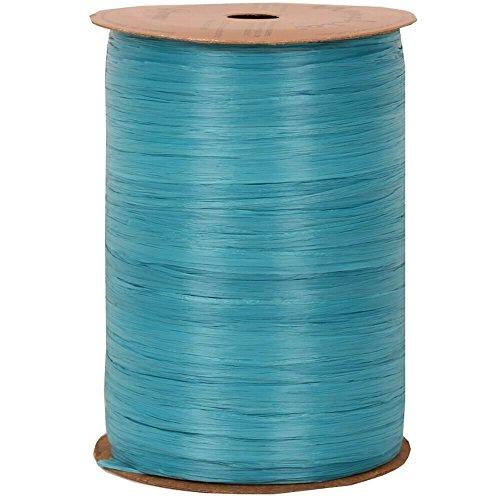 JAM Paper Wraffia Ribbon - Caribbean Blue - 100 yards per Spool - Sold Individually