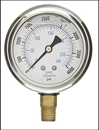 2.5 Inch Dial Gauge - LIQUID FILLED PRESSURE GAUGE, 2.5