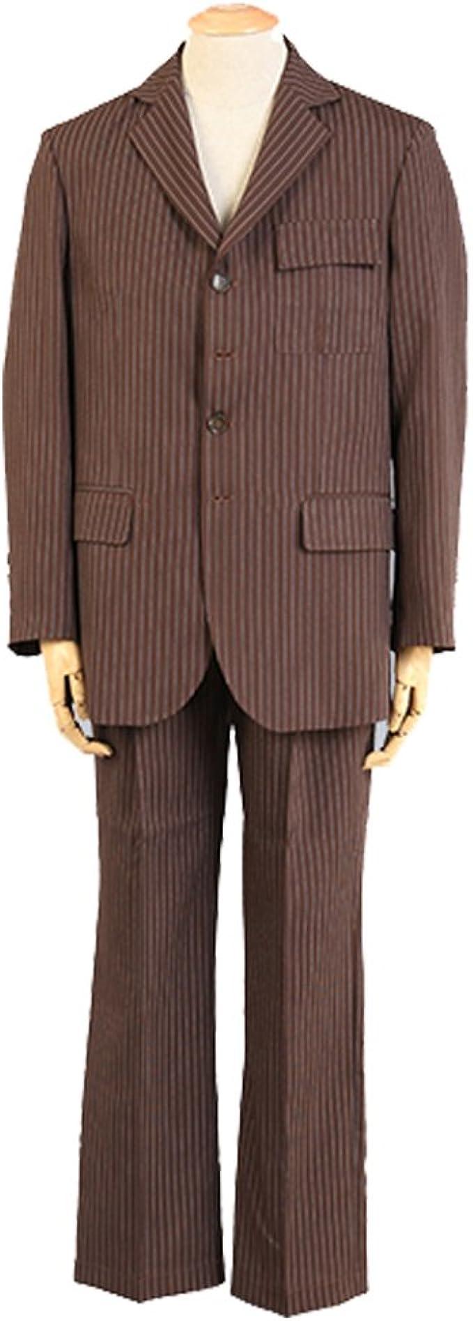 YZHEN Mens 2 Piece Gray Dress Suit Set
