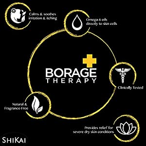 Shikai - Borage Dry Skin Therapy Facial Cleanser, Soothing & Moisturizing Relief For Dry, Irritated & Itchy Skin, Non-Greasy, Sensitive Skin Friendly (6 oz)
