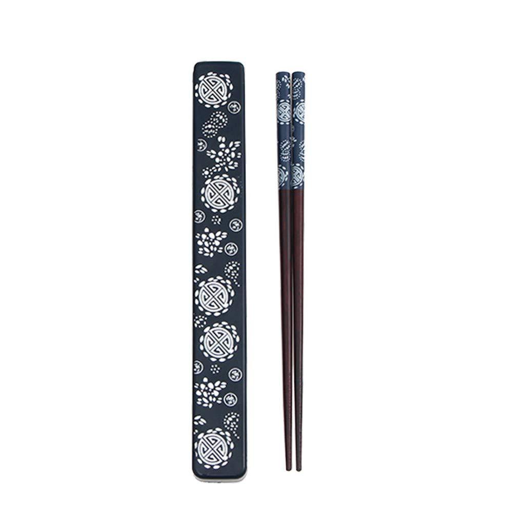 FBGood Bacchette Cinesi riutilizzabili Bacchette in bamb/ù Naturale Stile Cinese per Il Capodanno Cinese Antiscivolo Accessori per la casa Blu
