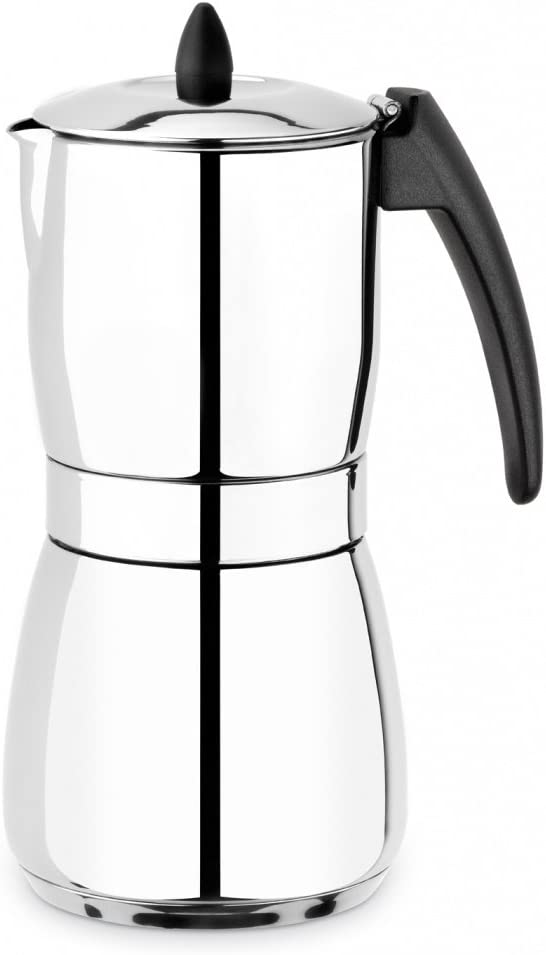 BRA Nova - Cafetera (Independiente, Acero inoxidable, Estufa, De café molido, Café, Manual): Amazon.es: Hogar