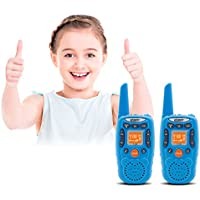 Crony Two Way Radio for Kids - 22-Channel FRS/GMRS 3.5KM Small Walkie Talkie - T358 is the 2nd Generation of T-388 - 2PCS (Blue)