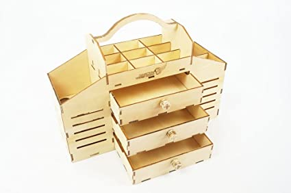 Amazon Com 3d Assembly Puzzle Diy Wooden Toolbox With Drawer Craft