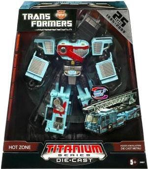 Transformers Universe Hasbro Titanium Series DieExclusive Die Cast Figure Hot Zone