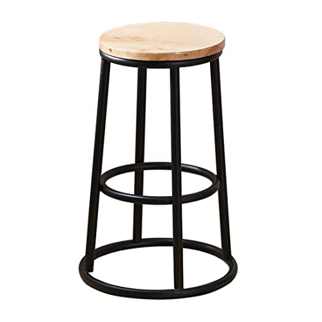 Fine Amazon Com Modern Industrial Wood And Metal Counter Stool Uwap Interior Chair Design Uwaporg