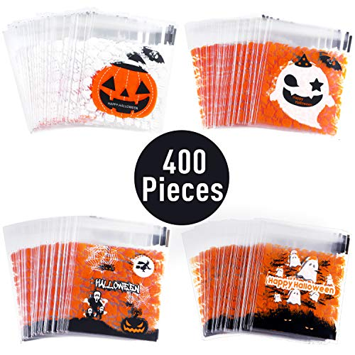 Halloween Paper Bag - 400 Pieces Halloween Self Adhesive Bags