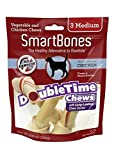 Petmatrix44; LLC-Smartbones Doubletime Chews for Dogs- Chicken-Veg Medium-3 Pack SBDT-02021