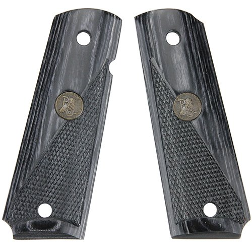 Pachmayr Colt - Pachmayr 00446 Colt 1911 Grip, Half Checkered, Charcoal