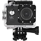 Acouto Action Camera 4K 12MP 30M Waterproof Underwater Sport Camera Vedio Camcorder 120 Degree Wide Angle Wifi Cam with Waterproof Housing Case Accessories kits (black)
