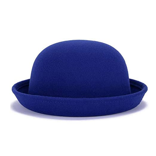 Image Unavailable. Image not available for. Color  Bowler Hat Fedora Hats  Winter Roll up Brim Cloche Derby Hats Woolen Cap 7dde025fe2bd