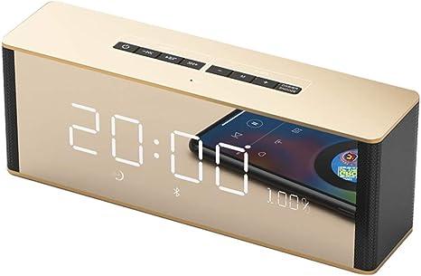 Multifunction Full LED HD Mute Bedside Mirror Electronic Mirror Alarm Clock