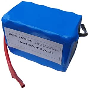 12 Volt (13,2V) LiFePo4 - rechargeable battery with einer KapazitÀt for 6900mAh for HighRate Anwendungen withoutmemoryeffect