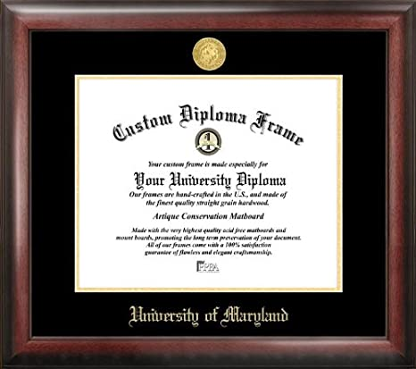Amazon Com Campus Images Md998ged University Of Maryland Embossed Diploma Frame 13 X 17 Gold