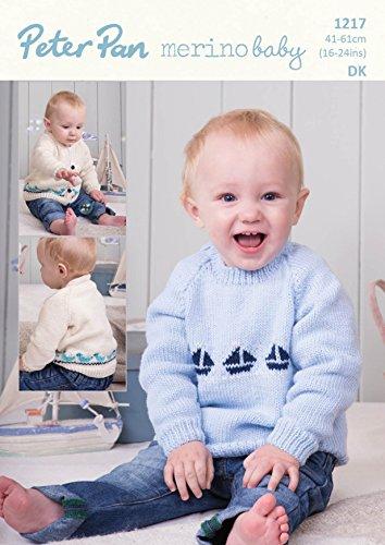 Peter Pan Baby Cardigan & Sweater Crochet Pattern 1217 DK