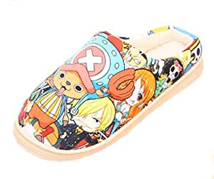 Bromeo One Piece Anime Super Suave Zapatillas de estar por casa Felpa Zapatos
