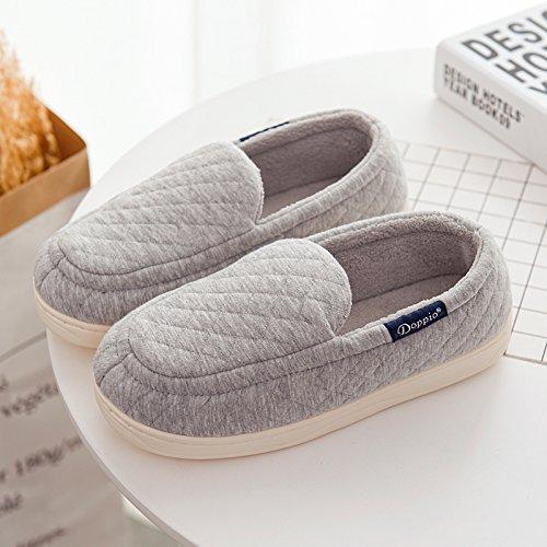 Chaussures nbsp;Mesdames d'Cotton agréable élastique Parole Semelle chaussons de Padded homme High Accueil LaxBa moelleux gris 01wUU