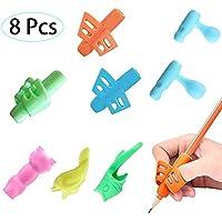 8 piezas Agarrador de lapiz Empuñaduras tipo lápiz