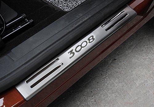 para 3008 Active Allure GT 2017 2018 Decoración para estribos 4 piezas acero inoxidable & el plastico: Amazon.es: Coche y moto