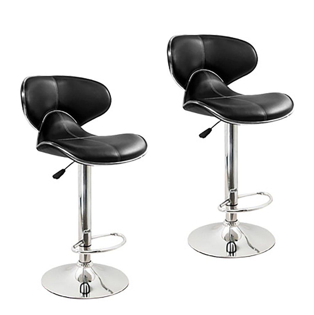 XUEPING 360度回転テレスコピックオフィスチェア美容椅子バースツールチェア美容椅子四季シングル/ダブルバースツールチェアカラーカウンターチェア (色 : D, サイズ さいず : 二) B07CVJ3VKH 二|D D 二