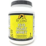 Goat Whey Isolate by Mt. Capra - ISO-GOAT WHEY Pure Goats Milk Protein, Contains All Essential Amino Acids, High in Leucine, Non GMO, No Hormones, Gluten Free, Unsweetened - 1 pound