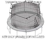 Sportspower 15' Trampoline Net - 3 Arches with Straps