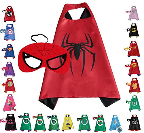 Make Believe Costume Ideas (Super hero Cape and Mask, Children, Boys, Girls Dress Up Costume)