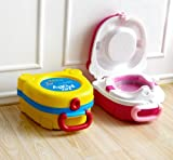 NPLE--Portable Car Travel Toddler Baby Boy Girl Potty Training Urinal Pee Pot Toilet (Pink)