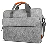 Inateck 15-15.6 Inch Laptop Shoulder Bag Carrying Case Briefcase Compatible Asus Dell HP Lenovo Laptop - Chromebook - Notebook - Ultrabook - Light Gray