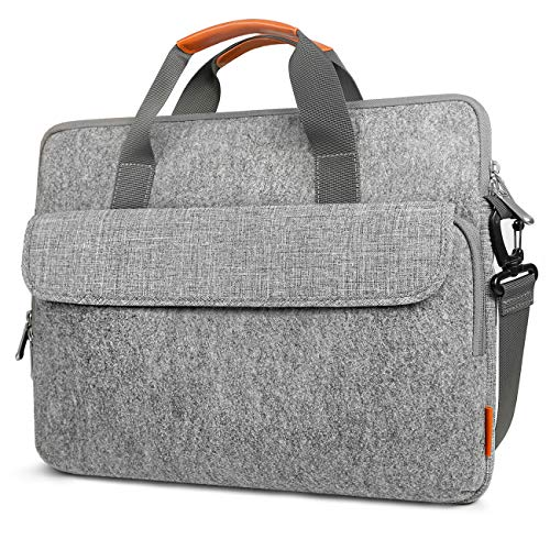 Inateck 15-15.6 Inch Laptop Shoulder Messenger Bag Carrying Case Briefcase Chromebook, Notebook, Ultrabook, Light Gray