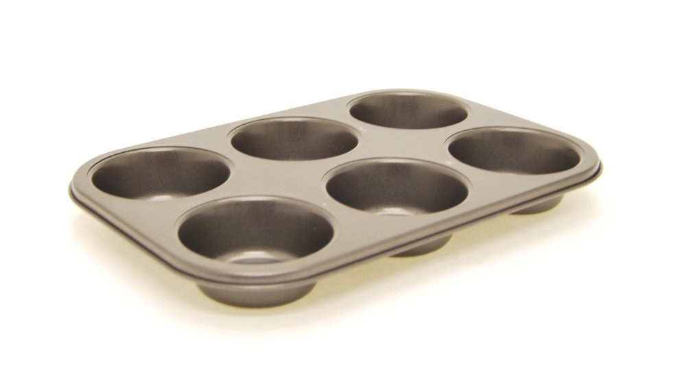 Starfrit 93628 12.5-Inch x 8.5-Inch Non-Stick 6-cup Muffin Pan 093628