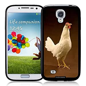 Cool Painting Chicken - Protective Designer BLACK Case - Fits Samsung Galaxy S4 i9500