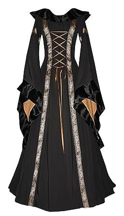 amazon com misassy womens medieval renaissance lace up retro gown