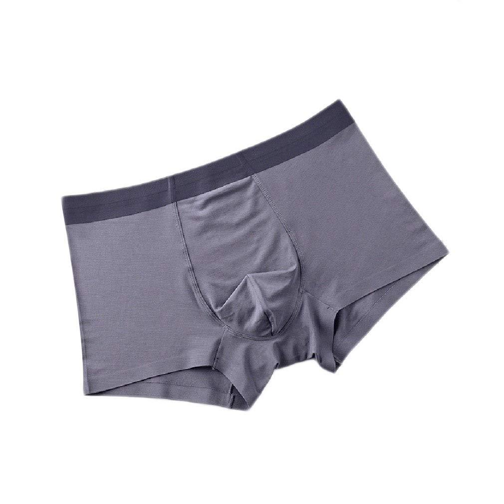 SportsX Mens Square Leg Seamless Underwear Light Weight 3-Pack Boxer Brief
