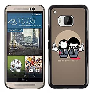 PC/Aluminum Funda Carcasa protectora para HTC One M9 Bad Ass Quote Movie Fiction Guns Art Suit / JUSTGO PHONE PROTECTOR