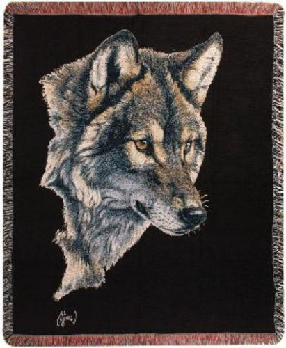 - Wolf Portrait Tapestry Throw by Al Agnew