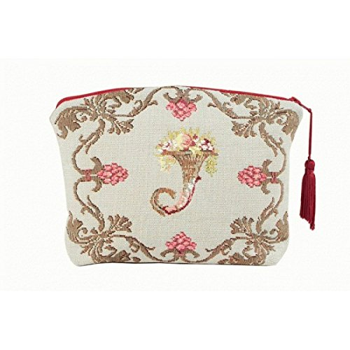 - ART DE LYS Joséphine (Josephine) French Jacquard Tapestry Zippered Case (Pouchette), Imported from France