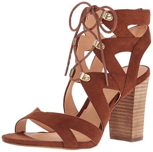 XOXO Women's barnie Heeled Sandal, Tan, 8.5 M US