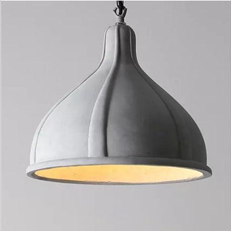 Nclon Creativo Vintage Moderna Lámpara de techo,E27 Enchufe Simple Moderna Cemento Lámpara colgante Comedor Dormitorio Lámpara colgante Exclud de la ...